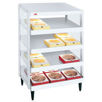 Hatco GRPWS-2424Q Granite White Glo-Ray 24 inch Quadruple Shelf Pizza Warmer - 120/240V, 2400W