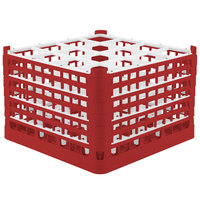 Vollrath 52737 Signature Full-Size Red 16-Compartment 11 3/8 inch XXXX-Tall Glass Rack