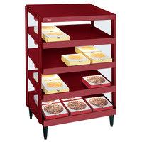 Hatco GRPWS-2424Q Wine Red Glo-Ray 24 inch Quadruple Shelf Pizza Warmer - 120/208V, 2400W