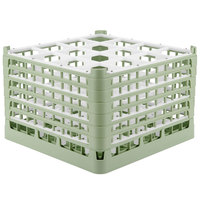 Vollrath 52737 Signature Full-Size Light Green 16-Compartment 11 3/8 inch XXXX-Tall Glass Rack
