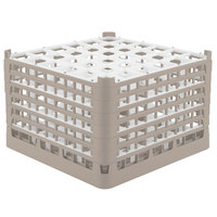Vollrath 52739 Signature Full-Size Beige 36-Compartment 11 3/8 inch XXXX-Tall Glass Rack