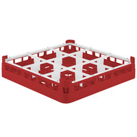 Vollrath 5276033 Signature Full-Size Red 9-Compartment 3 1/4 inch Short Plus Glass Rack