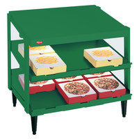 Hatco GRPWS-3618D Hunter Green Glo-Ray 36 inch Double Shelf Pizza Warmer - 1440W
