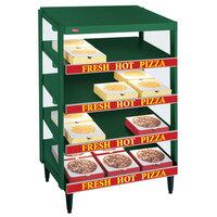 Hatco GRPWS-2424Q Hunter Green Glo-Ray 24 inch Quadruple Shelf Pizza Warmer - 2400W