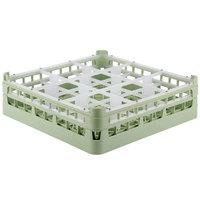 Vollrath 52761 Signature Full-Size Light Green 9-Compartment 4 13/16 inch Medium Plus Glass Rack