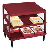 Hatco GRPWS-3618D Wine Red Glo-Ray 36 inch Double Shelf Pizza Warmer - 1440W