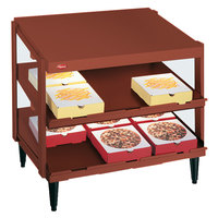 Hatco GRPWS-3624D Antique Copper Glo-Ray 36 inch Double Shelf Pizza Warmer - 1800W
