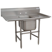 Advance Tabco 94-41-24-24RL Spec Line One Compartment Pot Sink with Two Drainboards - 74 inch