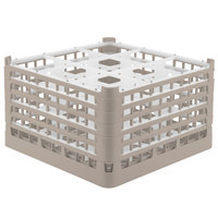 Vollrath 52731 Signature Full-Size Beige 9-Compartment 9 15/16 inch XXX-Tall Glass Rack