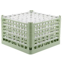 Vollrath 52740 Signature Full-Size Light Green 49-Compartment 11 3/8 inch XXXX-Tall Glass Rack