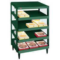 Hatco GRPWS-2424Q Hunter Green Glo-Ray 24 inch Quadruple Shelf Pizza Warmer - 120/240V, 2400W