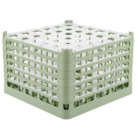 Vollrath 52739 Signature Full-Size Light Green 36-Compartment 11 3/8 inch XXXX-Tall Glass Rack