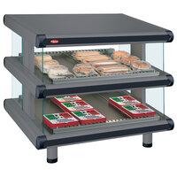 Hatco GR2SDS-42D Gray Granite Glo-Ray Designer 42 inch Slanted Double Shelf Merchandiser