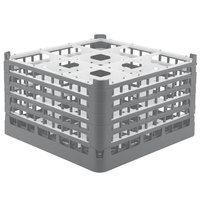 Vollrath 52731 Signature Full-Size Gray 9-Compartment 9 15/16 inch XXX-Tall Glass Rack