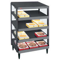 Hatco GRPWS-2424Q Granite Gray Glo-Ray 24 inch Quadruple Shelf Pizza Warmer - 120/240V, 2400W