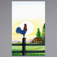 8 1/2 inch x 14 inch Menu Paper - Breakfast Themed Rooster Design Cover - 100/Pack