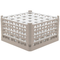 Vollrath 52733 Signature Full-Size Beige 25-Compartment 9 15/16 inch XXX-Tall Glass Rack