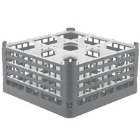 Vollrath 52729 Signature Full-Size Gray 9-Compartment 8 1/2 inch XX-Tall Glass Rack