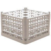 Vollrath 5273722 Signature Full-Size Beige 16-Compartment 11 3/8 inch XXXX-Tall Glass Rack