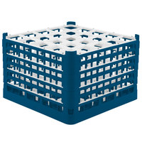 Vollrath 52738 Signature Full-Size Royal Blue 25-Compartment 11 3/8 inch XXXX-Tall Glass Rack
