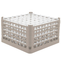 Vollrath 52735 Signature Full-Size Beige 49-Compartment 9 15/16 inch XXX-Tall Glass Rack
