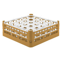 Vollrath 52774 Signature Full-Size Gold 25-Compartment 6 1/4 inch Tall Plus Glass Rack