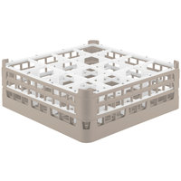 Vollrath 52768 Signature Full-Size Beige 16-Compartment 6 1/4 inch Tall Plus Glass Rack