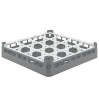 Vollrath 52766 Signature Full-Size Gray 16-Compartment 3 1/4 inch Short Plus Glass Rack
