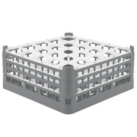 Vollrath 52775 Signature Full-Size Gray 25-Compartment 7 11/16 inch X-Tall Plus Glass Rack