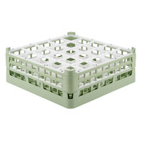 Vollrath 52774 Signature Full-Size Light Green 25-Compartment 6 1/4 inch Tall Plus Glass Rack