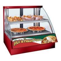 Hatco FSCD-2PD Red Flav-R-Savor Convected Air Curved Front Display Case