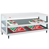 Hatco GRPWS-4818D Granite White Glo-Ray 48 inch Double Shelf Pizza Warmer - 120/240V, 1920W
