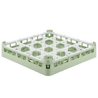 Vollrath 52766 Signature Full-Size Light Green 16-Compartment 3 1/4 inch Short Plus Glass Rack