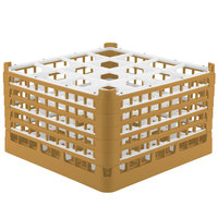 Vollrath 52771 Signature Full-Size Gold 16-Compartment 10 9/16 inch XXX-Tall Plus Glass Rack