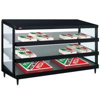 Hatco GRPWS-4818T Black Glo-Ray 48 inch Triple Shelf Pizza Warmer - 120/208V, 2880W