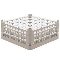 Vollrath 52775 Signature Full-Size Beige 25-Compartment 7 11/16 inch X-Tall Plus Glass Rack