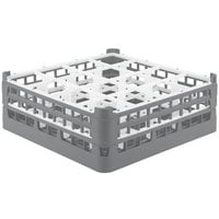 Vollrath 52768 Signature Full-Size Gray 16-Compartment 6 1/4 inch Tall Plus Glass Rack