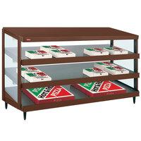 Hatco GRPWS-4824T Antique Copper Glo-Ray 48 inch Triple Shelf Pizza Warmer - 3585W