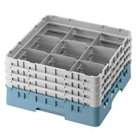 Cambro 9S318414 Teal Camrack 9 Compartment 3 5/8 inch Glass Rack
