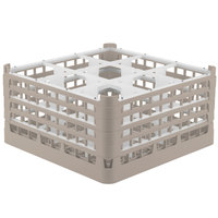 Vollrath 52764 Signature Full-Size Beige 9-Compartment 9 1/16 inch XX-Tall Plus Glass Rack