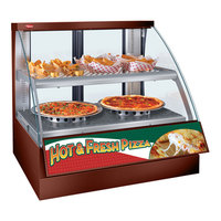 Hatco FSCD-2PD Copper Flav-R-Savor Convected Air Curved Front Display Case