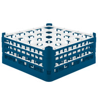 Vollrath 52775 Signature Full-Size Royal Blue 25-Compartment 7 11/16 inch X-Tall Plus Glass Rack