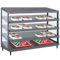 Hatco GRPWS-4818Q Granite Gray Glo-Ray 48 inch Quadruple Shelf Pizza Warmer - 120/208V, 3840W