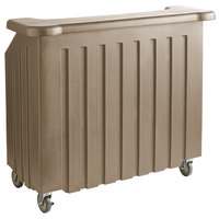Cambro BAR540194 Cambar® Granite Sand 54 inch Portable Bar with 5-Bottle Speed Rail