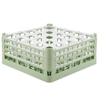 Vollrath 52775 Signature Full-Size Light Green 25-Compartment 7 11/16 inch X-Tall Plus Glass Rack