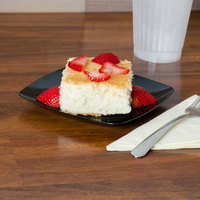 Fineline Renaissance 1506-BK 5 1/2 inch Black Customizable Plastic Dessert Plate - 120/Case
