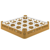 Vollrath 52766 Signature Full-Size Gold 16-Compartment 3 1/4 inch Short Plus Glass Rack
