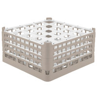 Vollrath 52776 Signature Full-Size Beige 25-Compartment 9 1/16 inch XX-Tall Plus Glass Rack