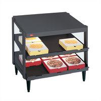 Hatco GRPWS-4824D Granite Gray Glo-Ray 48 inch Double Shelf Pizza Warmer - 2390W