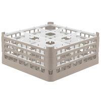 Vollrath 52763 Signature Full-Size Beige 9-Compartment 7 11/16 inch X-Tall Plus Glass Rack